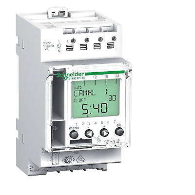 Schneider Multi 9 - CCT15720 IHP - 1 Channel 24 Hour 7 Day 16a Time Switch