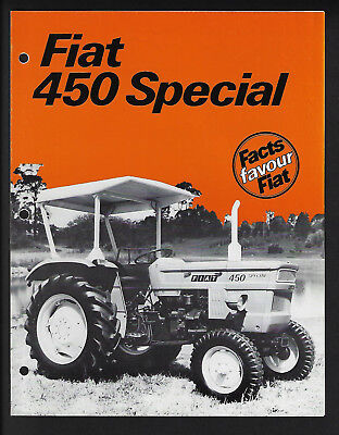Fiat 450 Special Tractor 4 Page Brochure