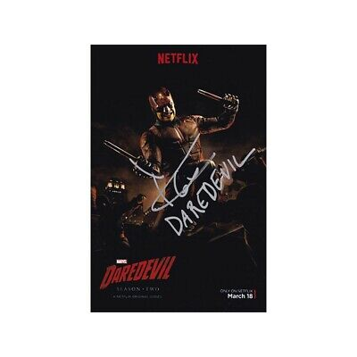 Charlie Cox Hand Signed Autograph Daredevil Marvel (2015) 4x6 Card