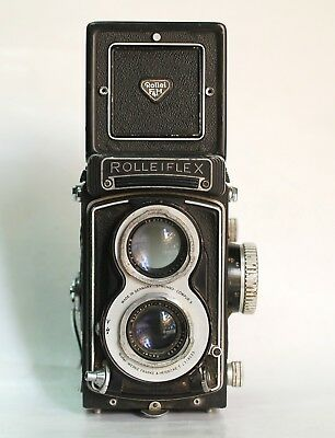 Rollei Rolleiflex White Face 75mm f3.5 T Xenar lens TLR Camera FOR PART