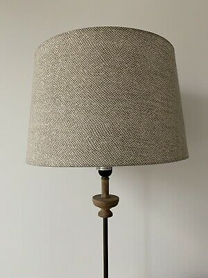 2 X OKA Lampshades - 40cm Neutral Patterned / Including Shade Carriers