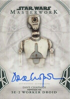 2018 Topps Star Wars Masterwork Dave Chapman as SE-2 Worker Droid Auto