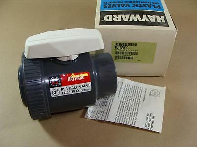 "New Hayward Bv10200S 2"" Pvc Single Entry Ball Valve With Viton Seals Socket Ends"