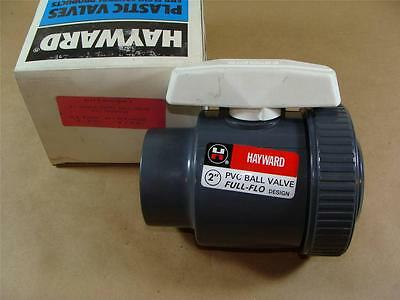 "New Hayward Bv10200T 2"" Pvc Single Entry Ball Valve W/ Viton Seals Threaded Ends"