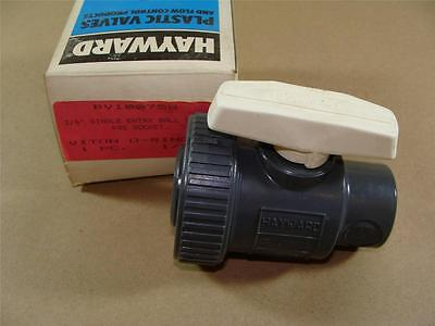 "New Hayward Bv10075S 3/4"" Pvc Single Entry Ball Valve W/ Viton Seals Socket Ends"