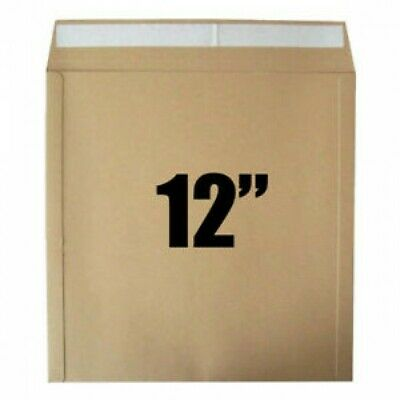 "Strong Brown 12""/LP Quality Card Record Mailing Envelopes / Mailers 650 gsm"
