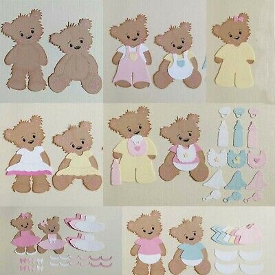 Decorative Bear And Clothes Metal Cutting Dies Stencils DIY Scrapbook Embossing