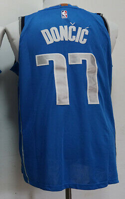 New Men s Dallas Mavericks  77 Luka Doncic basketball jersey blue 8ecae75f3