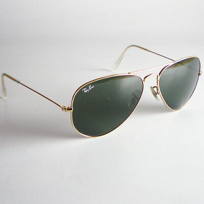 Ban Made Metal L0205 58mm Gold Pilot Sunglasses Ray Italy Aviator Rb Large 3025 CQdBoWrex
