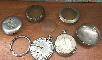 2 x VINTAGE SMITHS MANUAL WIND POCKET WATCHES WORKING OR PARTS SPARES REPAIRS