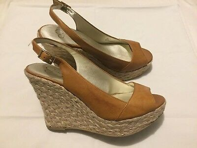 431582c5396 Jessica Simpson Women s Brown Shoes Platform Wedge Heels Size 7B   37  pre-owned