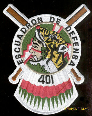 AIR DEFENSE FIGHTER SQUADRON 401st PATCH MEXICAN AIR FORCE F5E MEXICO PIN UP