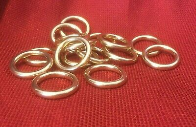 "3/4""  I.D. x 4mm Thick Solid Brass O Rings for Belts Tack SCA Medieval Ren Faire"