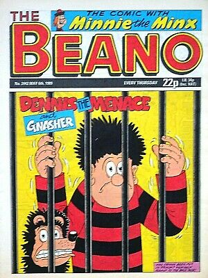 THE BEANO - 6th MAY 1989 (4 - 10 May) - SPECIAL 30th BIRTHDAY GIFT !! VG+ sparky
