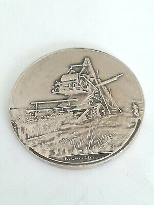 Médaille Argent Massif R. Corbin Agriculture 64 g - 50 mm