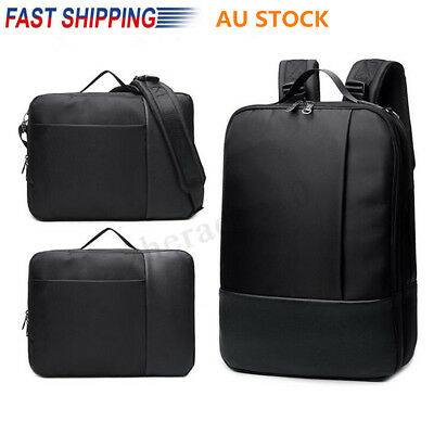 AU Men's Vintage Leather Backpack Rucksack Travel Satchel Laptop Business Bag