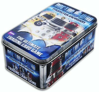 11 x Doctor Who Monster Invasion Trading Card Game 10 x DALEK - 1 x Silence Tin