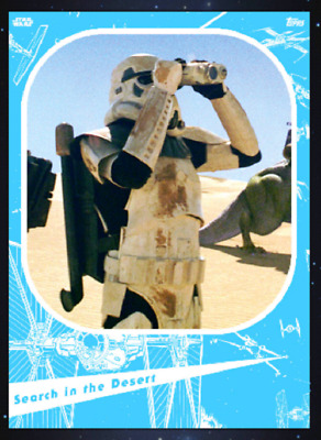 TOPPS STAR WARS CARD TRADER MARATHON 2019 A NEW HOPE Search in the Dessert BLUE