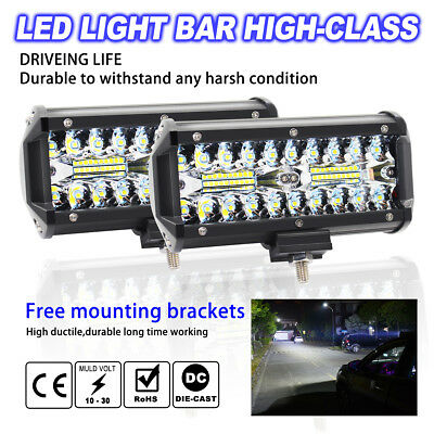 120W 7inch Led Work Light Bar Lamp Offroad Driving Lamp Atv Ute Suv 4WD Boat