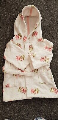 Baby girl The Little White Company Roses dressing Gown 12-18 Months