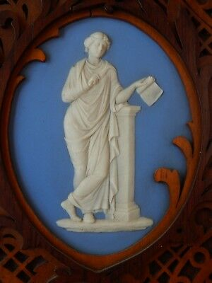 """ANTIQUE  Wedgwood (only) RARE  Victorian Gingerbread Framed  7""""  CALLIOPE Plaque"""