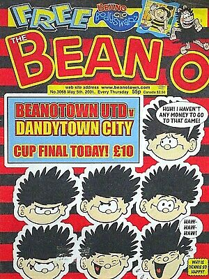 BEANO - 5th MAY 2001 (3 - 9 May) SUPERB 18th BIRTHDAY GIFT !! FINE beezer sparky