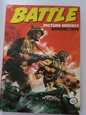 BATTLE PICTURE ACTION WEEKLY ANNUAL 1976, Rare, Good Condition. war action