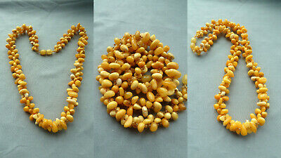 Z6NO 老琥珀 natural amber butterscotch necklace Bernsteinkette Bernstein Damen