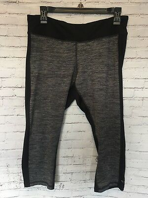 Womens CHAMPION Duo Dry Black Gray Grey Athletic Cropped Leggings Sz.Large  strip cfe72e0b67