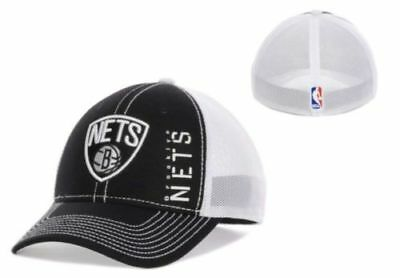 Brooklyn Nets NBA Authentic Adidas Zone Mesh Flexfit Hat Cap NWT Size L XL  NWT 397aa0eca865