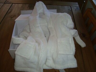 the little white company babys dressing gown, 0-6months