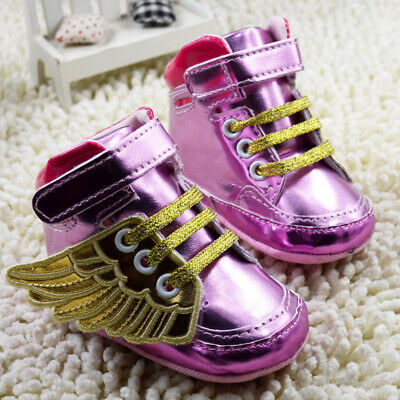 Pink Fashion Infant Baby Boys Girls Soft Sole Toddler Crib Shoes Sneakers 11cm