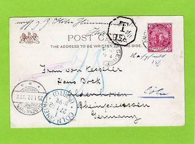 Boer War South Africa Royalty pc 1902 George Cape Colony to Germany Censor