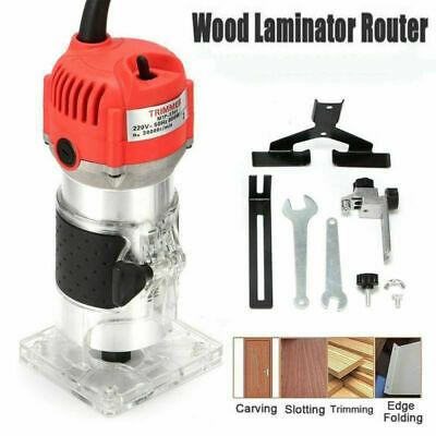 Router Trimmer 800W Durable Small Electric Woodworking Trimmer Power Kit UK Plug