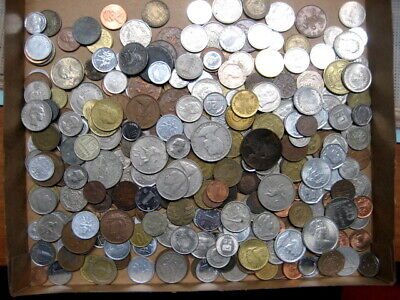.Bulk Lot of 300 Assorted World Foreign Coins,3 pounds