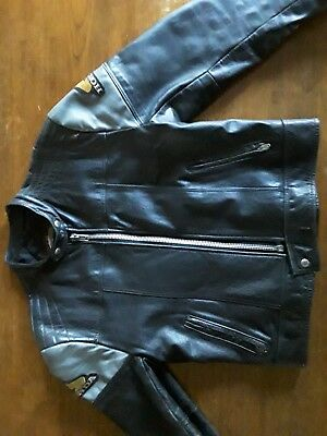 Vintage Leather Jacket Bristol Golden Crown Cafe Racer Motorcycle Honda M 44
