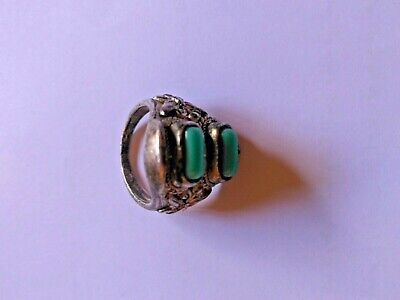 Antique Tuareg Ethnic Coin Silver  Collected Moroccan Berber Ring