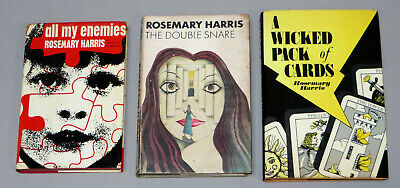 3 Thrillers by ROSEMARY HARRIS inc ALL MY ENEMIES (1967) THE DOUBLE SNARE (1974)
