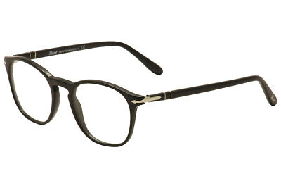 36f1cc2899a18 Persol Men s Eyeglasses 3007V 3007 V 95 Black Silver Full Rim Optical Frame  50mm