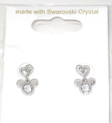 a91538b851095 DISNEY EARRINGS✿MICKEY MOUSE Hoops Made with Crystals from ...