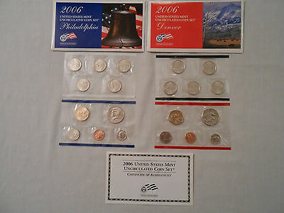 Coins:Collection: 2006 US Mint Uncirculated Coins: 2 Sets :Philadelphia/Denver