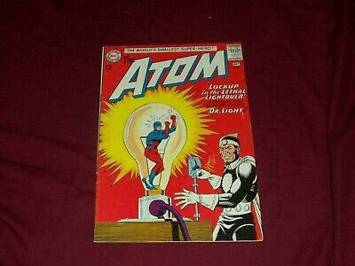 The Atom #8 1963- Dr Light cover- DC Silver Age- Gil Kane, art.