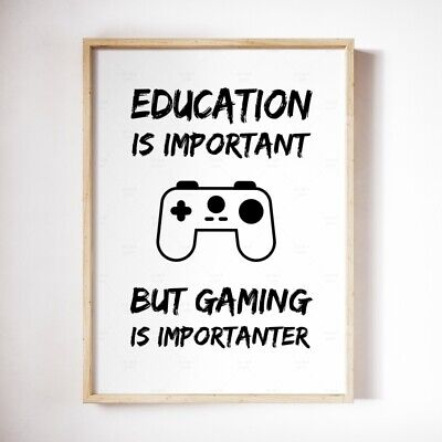 Funny Gaming Poster * Geek Quote A3 A4 Print Gift For Gamer, Home Decor Wall Art