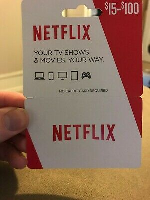 $15 Netflix Gift Card never used