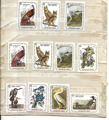 Haiti 23 Bird Stamps Commemorating Audobon - Noted As Unissued In Scott Catalog