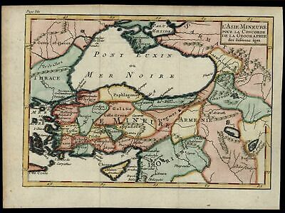 Turkey Cyprus Thrace Asia Minor Iraq Mesopotamia 1772 old hand color map