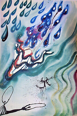 Salvador Dali Alice in Wonderland The Pool of Tears - CANVAS OR PRINT WALL ART