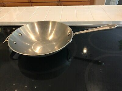 """All Clad Metalcrafters  Master Chef #410 Stainless Steel 10"""" Wok Pot Pan"""