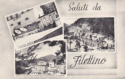 Filettino - Frosinone - Saluti Da.... Con Tre Vedutine