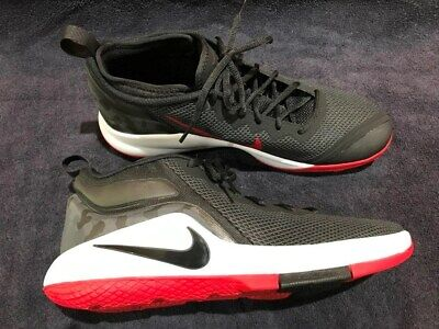 9503aac3d03 Nike Lebron James Witness II Basketball Shoes (mens size 11) Black White Red